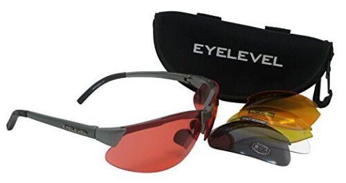 5 LENTI INTERCAMBIABILI OCCHIALI DA TIRO Clay Pigeon Eyelevel Occhiali Da Sole UV 400