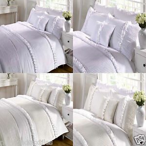 Image Is Loading Serenity Rose Fl Chic Ruffle Duvet Cover Quilt
