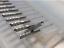 "10pcs 0.0276/"" 0.7mm Carbide End Mill Engraving Bits CNC PCB Machinery 1//8/"" shank"