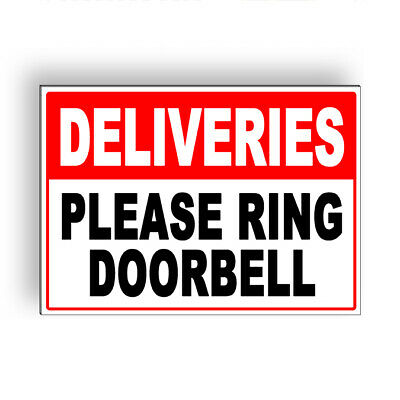 Deliveries Please Ring Doorbell Metal Sign 5 Sizes Ms067 Ebay