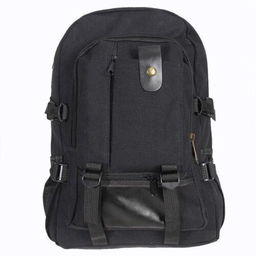 Mens School Laptop Backpack Canvas Travel Camping Casual Shoulder Bag Rucksack