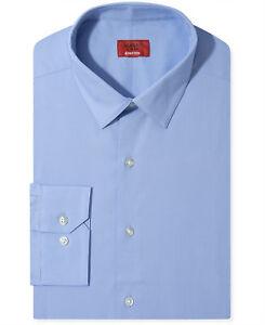 Nwt-81-Alfani-Men-Slim-Fit-Stretch-Blue-Long-Sleeve-Dress-Shirt-15-15-5-32-33-M