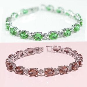 925-Sterling-Silver-Color-Change-Diaspore-Gemstone-Fine-Jewelry-Bracelet-Wedding