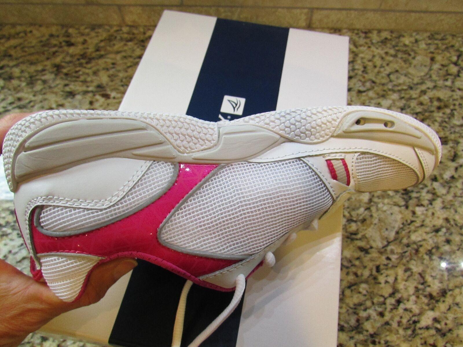 NEWS SPERRY TOP-SIDER SEA KITE ATHLETIC Schuhe Damenschuhe 9 9 9 Weiß PINK  FREE SHIP 3ddf7b