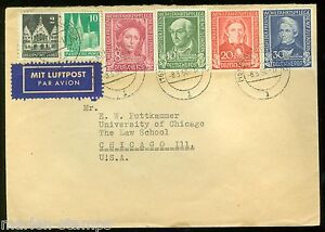 GERMANY FRANKFURT 3/8/50 COVER TO CHICAGO AS SHOWN