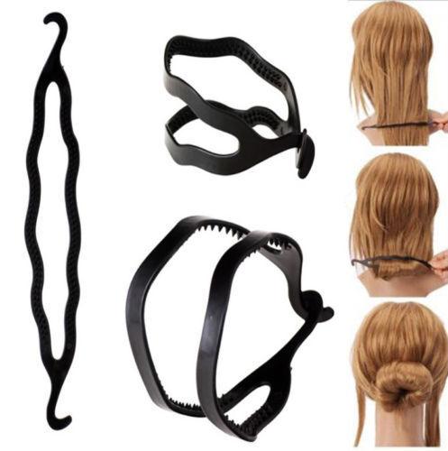 2pcs Fashion Magic French Hair Twist Styling Clip Stick Bun Maker Braid Tool T1