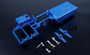 Servo Steering doble de aleación con gran caja de batería Kit Azul Para Losi 5ive T