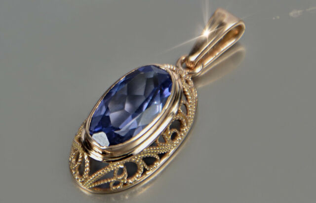 Solvar Silver Plated Crystal Harp Pendant
