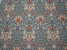 "WILLIAM MORRIS CURTAIN FABRIC ""Snakeshead"" 3.65 METRES THISTLE/RUSSET DM3P224466"