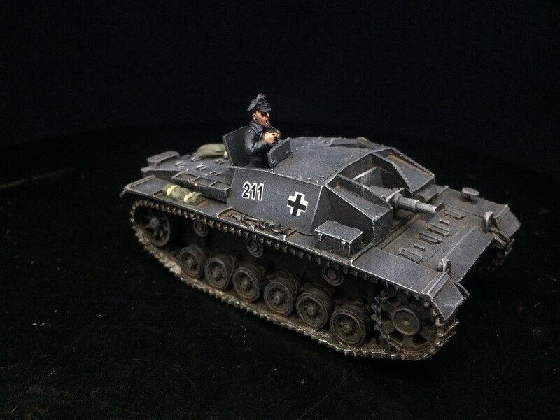 1 56 28mm Segunda Guerra Mundial del Departamento de Seguridad Pública Pintado Perno acción pistola de asalto Wehrmacht alemana stugiii B sede