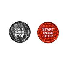 For Audi Car Ignition Starter Switch Cover Carbon Fiber Engine Start Key Sticker