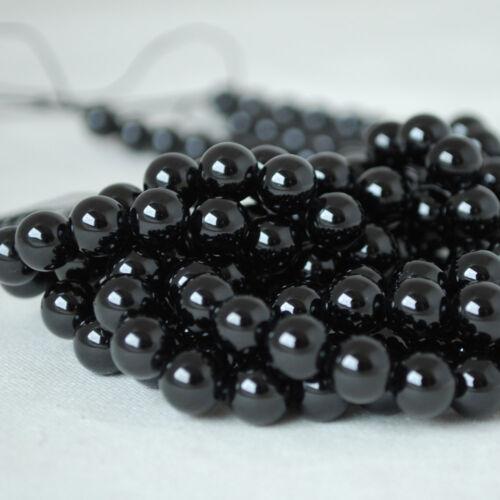 Grade A Natural Black Obsidian Gemstone Round Beads 4mm 6mm 8mm 10mm