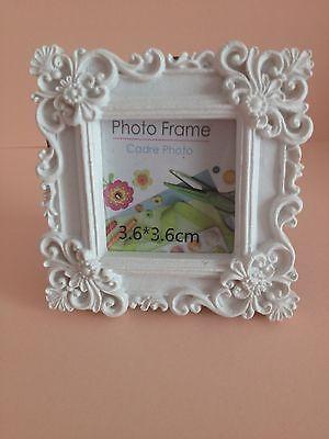 Vintage Style, White Mini Photo Frame (square)