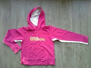 Sweat-a-capuche-rose-WILSON-taille-11-12-ans