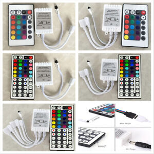 24-44-Key-IR-Remote-Controller-Box-AC-DC-12V-For-LED-RGB-3528-5050-Light-Strip