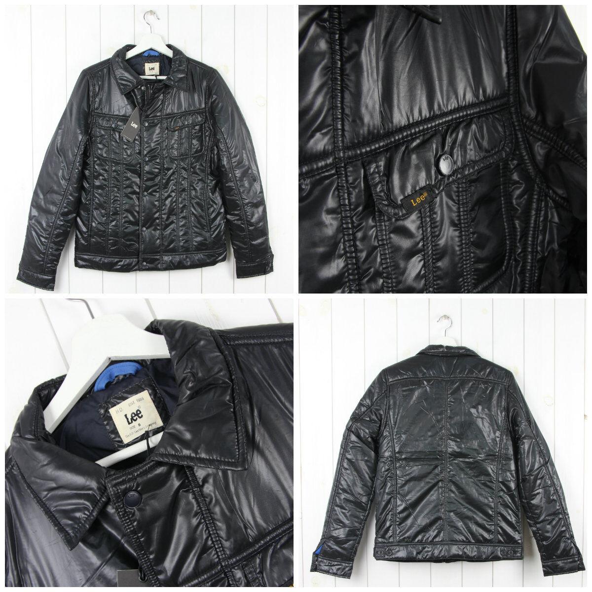 Neuf LEE nylon Rider veste denim style matelassé black 101 fin unique S M L