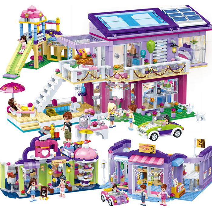 Mädchen Serie Prinzessin Burg Musik Springquell Kutsche Ice Cream Wagen Kuchen