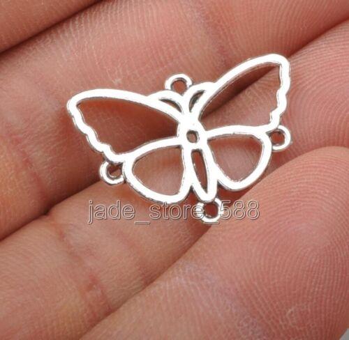 30pcs Tibetan  charm butterfly  Findings  Connectors 17mm