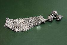 Breites altes 800er Silber-ARMBAND filigran m. Schellen •