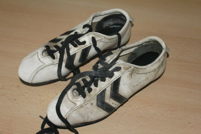 ALAN BALL HUMMEL WHITE FOOTBALL BOOTS - BOUGHT FROM ALAN BALL  PLEASE READ STORY
