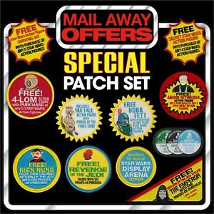 Kenner-STAR-WARS-Vintage-034-Mail-Away-Offers-034-Bundle-set-of-11-iron-on-patches