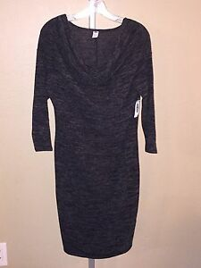Women s Old Navy Charcoal Heather Gray Cowl Neck Maternity Dress ... 88773257d