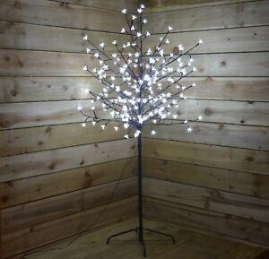 3ft-5ft-200-LED-Pre-Illuminato-Fiori-Di-Ciliegio-Tree-albero-di-Natale-Decorazione-Light-Up-Bianco