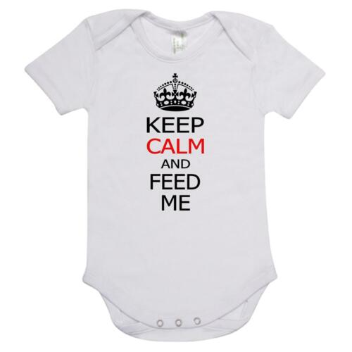 Baby onepiece romper  KEEP CALM AND FEED ME on quality 100/% cotton