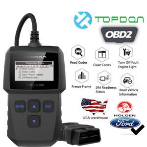 Automotive OBD2 EOBD Scanner Car Code Reader Check Engine Fault Diagnostic Tool