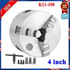 4 Lathe Chuck K11 100 3 Jaw Self Centering Lathe Jaw Milling Machine 100mm Us