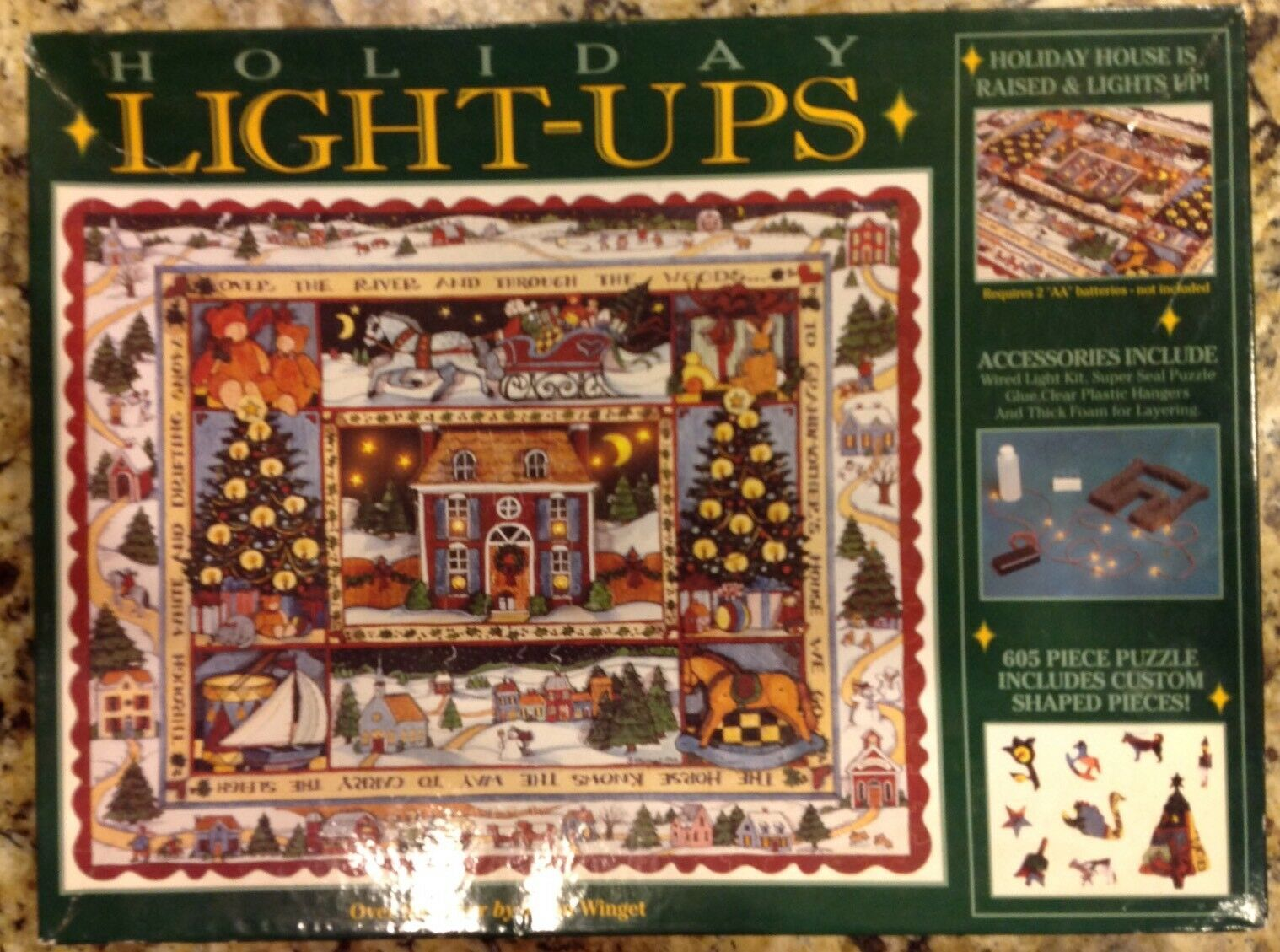 Susan Winget HOLIDAY LIGHT-UPS Lights River Puzzle 605 Pieces Sealed NEW