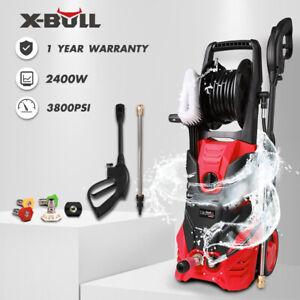X-BULL-3800PSI-High-Pressure-Water-Cleaner-Washer-Electric-8M-Hose-Gurney-Pump