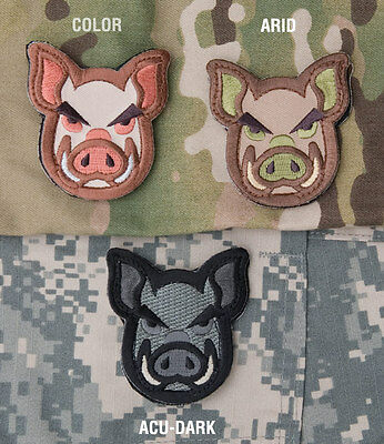 Mil Spec Monkey MSM Pig Head Patch-Multicam-ACU-Full Color