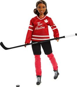 Mattel-Tim-Hortons-Barbie-signature-Brunette-American-hockey-doll-6-years-up