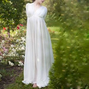 White Vintage Floor Length Dress