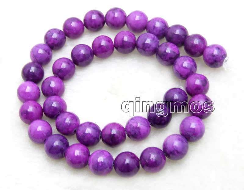 10mm púrpura Redondo Natural Sugilite suelta granos para joyería haciendo Strand 15