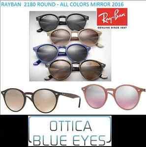 33311b9137e4 Image is loading RAYBAN-Sunglasses-Round-2180-Ray-Ban-Round-Sunglasses-