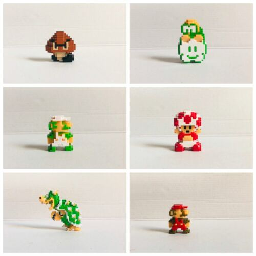 SUPER MARIO 8-BIT PRINCESS PEACH Goomba Kinopio Bowser FIGURE