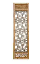 Chinese Natural Wood Geometric Wall Panel Headboard Accent cs821