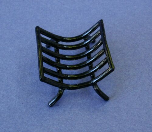 Miniature Dollhouse Black Metal Log Holder Heavy Duty 1:12 Scale New