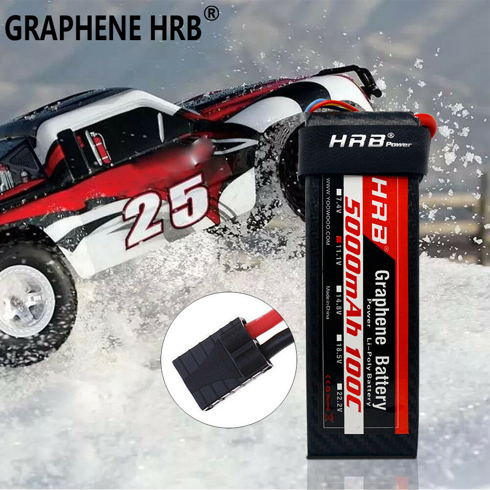 Graphene HRB Lipo Battery 5000mAh 3S 11.1V 100C For Traxxas 1 10 Slash 2WD VXL