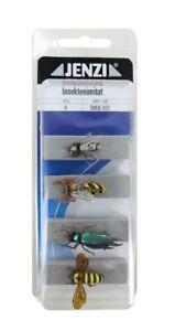 3,25 EUR//Stk. Jenzi Insekten-Imitat Fliegenfischen Set L1 4 Stück