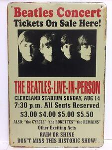 Beatles Concert Live in Person Vintage Metal Sign Plaque Home Pub Studio Decor - London, United Kingdom - Beatles Concert Live in Person Vintage Metal Sign Plaque Home Pub Studio Decor - London, United Kingdom