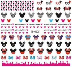 Nail-Art-Stickers-Water-Decals-Transfers-Minnie-Mouse-M-031