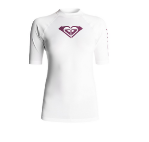 Whole Hearted white Lycra jersey surfing UPF 50 ROXY rashguard ERJWR03219 white