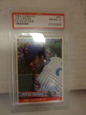 1984 Donruss Joe Carter Rated Rookie Card # 41 Chicago Cubs PSA 8 NM-MT
