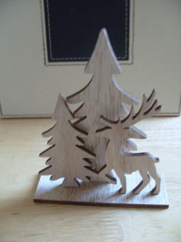 12 cm x 14.5 cm MDF baignoir Cerf Scène avec push out figures-Blank Shape