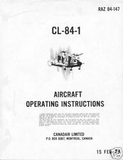 Canadair CL-84 CX 84 131 VTOL Dynavert Experimental RARE 1970's manual archive