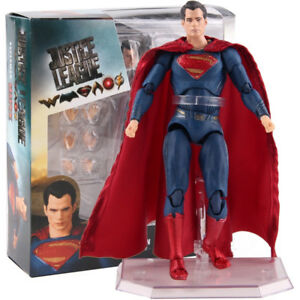 DC-Justice-League-Superman-MEDICOM-TOY-mafex-no-057-PVC-Action-Figur-Modell-Spielzeug