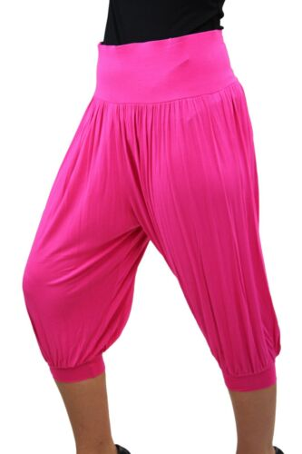 Donna Taglie Forti Da Donna Lunghezza 3//4 Baggy Loose Drape Estate RITAGLIATA Harem Pants